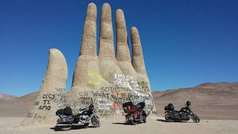viagem de moto até o Deserto do Atacama